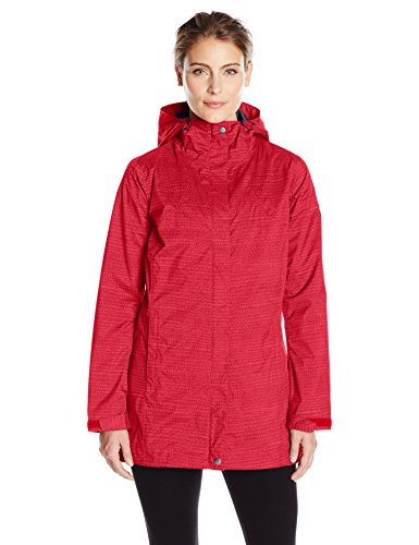 Columbia Women's Splash A Little Rain Jacket, Red Camellia Dotty Dye Print, Medium