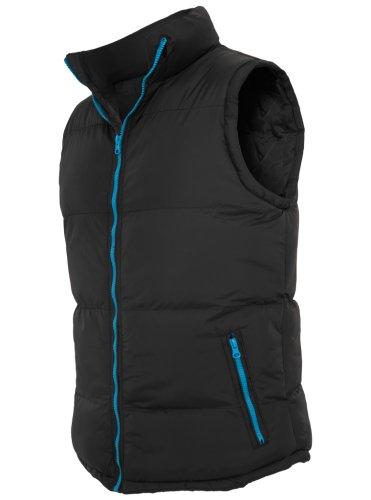 URBAN CLASSICS Contrast Bubble Vest TB299 black/turquoise XL