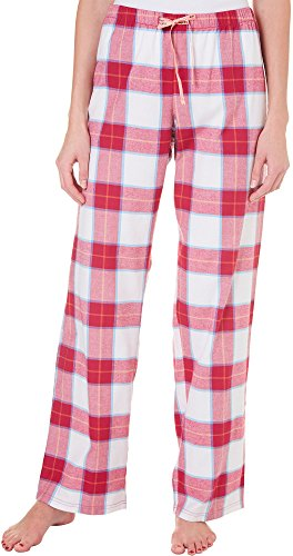 Life is Good Sleep Pants Pants, Ivory Rose Berry Plaid, Large ()