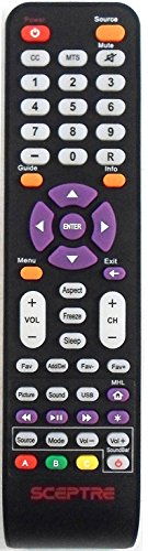 SCEPTRE 142021270009C REMOTE CONTROL FOR X40 AND MANY MORE
