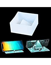 KyeeaDIY Cell Phone Stand Resin Mold, Pyramid Epoxy Molds Set Mobile Phone Holder Silicone Mold Kit Square Casting moulds Phone Support Rack Mold for DIY Craft Phone Bracket (Pyramid mold)