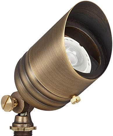 VOLT Fat Boy 12V Brass Spotlight with Stake