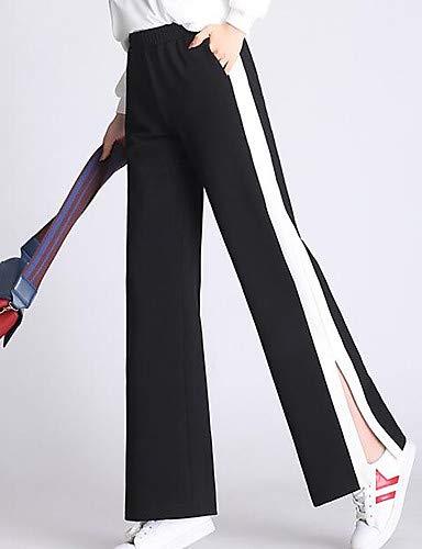 Large FemmeBloc Coton Couleur Yfltz Pour De Black En Pantalon Ample DH2I9EWY