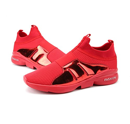 HYLM Zapatillas Hombre Zapatillas Fitness Zapatos Deportivos Zapatos Casual Zapatos Negro Rojo Red