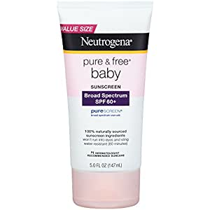 Neutrogena Pure & Free Baby Sunscreen Lotion Broad Spectrum SPF 60+, 5 Fl. Oz