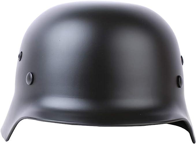 Diyueol WWII German Elite M35 Helmet Stahlhelm Steel ET68 Combat Retro Replica Militaria