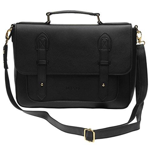 Miso Umhängetasche schwarz Damen Schulter Handtasche