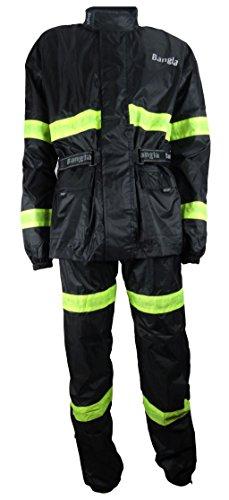 Bangla Regenkombi 2tlg Jacke und Hose Motorradbekleidung schwarz 4 XL