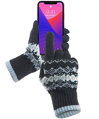 GreatShield COZY Series Spring Fall Winter Gloves that Works with Touch Screen Devices - iPhones, Android Phones, Smartphones, Tablets for Men & Women - 5 Finger Functionality (Large/XL)