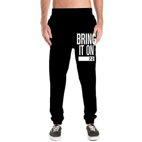 Wxf Men Bring It On Black Fahsion Sports Fleece Sweatpant 3X Adjustable Sweatpants