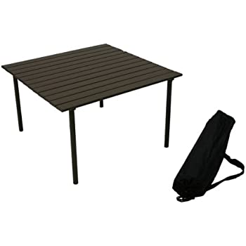 Table in a bag ta2727 tall aluminum portable table with carrying bag brown - Low portable picnic table in a bag ...