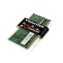 Vision Tek 2G Kit of 2, 2x1GB PC2-5300 CL5 667 240-Pin DDR2 SDRAM 1 Dual Channel DIMM Desktop Memory (900469)