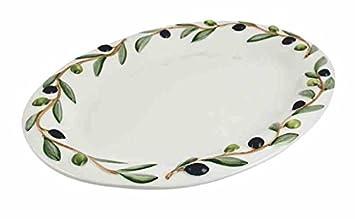 Kaheku Oliva Italienisches Keramik Geschirr Mit Relief Servierplatte