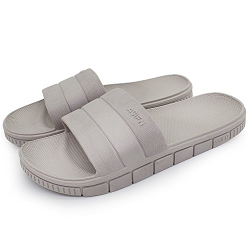 for and Slip House Soft Shower Beach Women Bath Gray Sandals Men Non Indoor Qiucdzi Slippers vtX0q