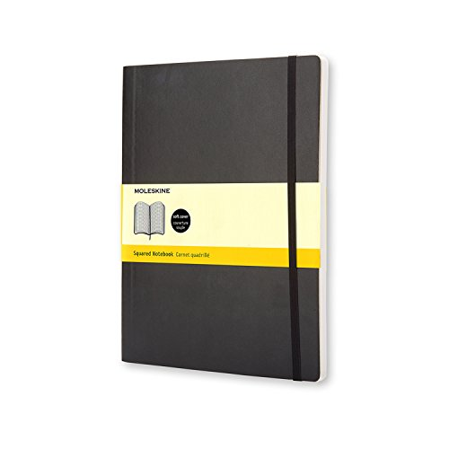 Moleskine Classic Soft Cover Notebook, Plain, XL (7.5