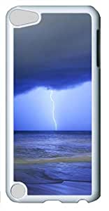 iPod Touch 5 Case and Cover -Storm On The Sea PC case Cover for iPod Touch 5¨C White