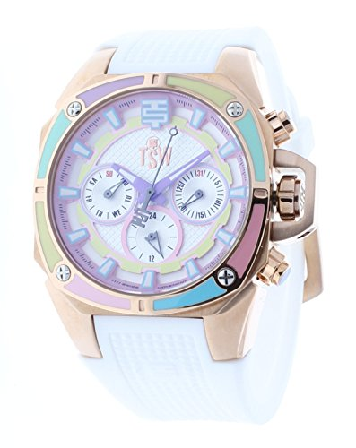 Technosport TS-100-S38 Women's Watch 38mm Rose Gold Case Multicolor Dial Swiss Multifunction Movement