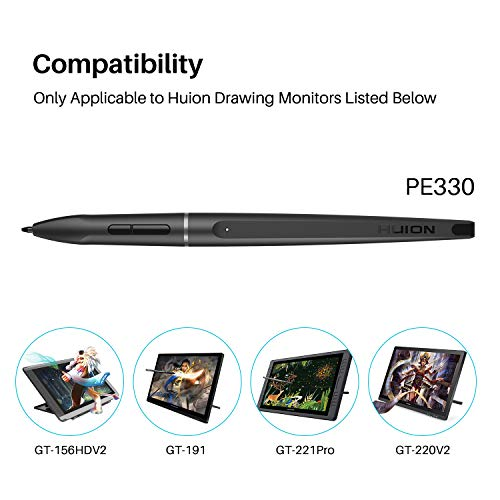 Huion PE330 Rechargeable Stylus 8192 Pen Pressure for Huion