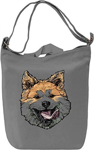 Derp dog Borsa Giornaliera Canvas Canvas Day Bag| 100% Premium Cotton Canvas| DTG Printing|
