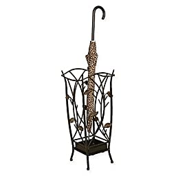 Leaf Umbrella Stand in Bronze