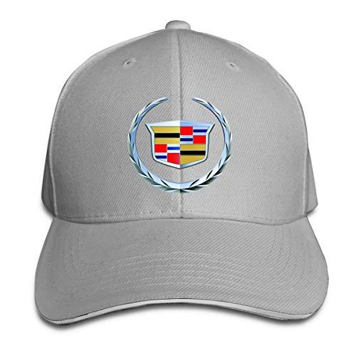 Nyanhif Custom Cadillac 2000YLogo Cool Peak Cap for Mens Gray ()