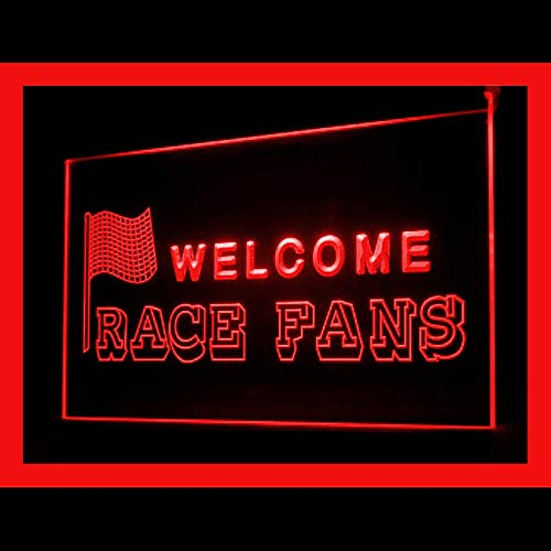 (220090 Welcome Race Fans Car Drivers Speed Collection Display LED Light Sign)