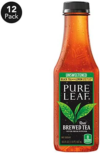 Bottled Tea & Tea Drinks: Lipton Pure Leaf Unsweetened Tea