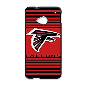 Handsome red background Atlanta Falcons Htc One M7 Case Cover Shell (Laser Technology)