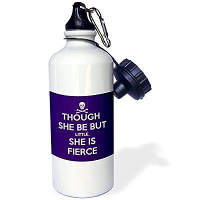 Bien qu'Elle être mais Petit Elle est Fierce Sports Bouteille d'eau en acier inoxydable Bouteille d'eau pour femme homme enfants 400ml