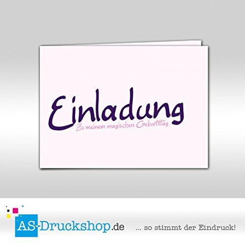 Einladungskarte Kindergeburtstag - Einhorn Stella - DIN A6 50 Stück B07D3Y62QD   Modern