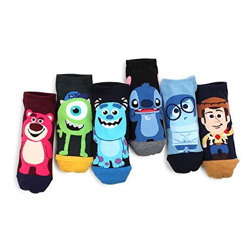 (Disney Pixar Movies Official Socks (Low cut 6pairs) cj)