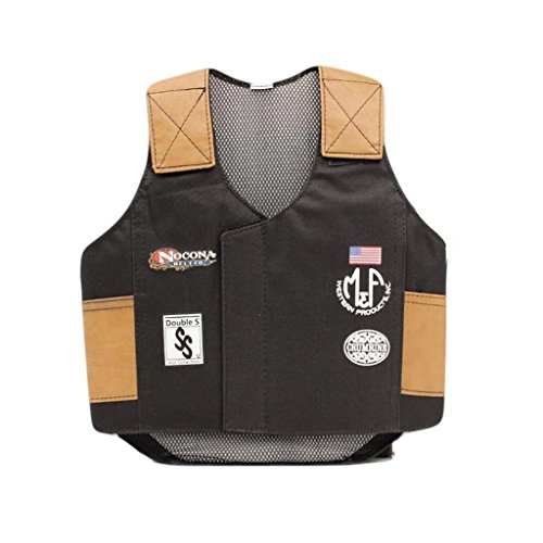 Bull Costume For Kids (M & F Western Boys' Bull Rider Play Vest 2-10 Years Black)