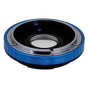 Fotodiox Pro Lens Mount Adapter, Canon FD Lens to Canon EOS EF, EF-S Mount Camera such as EOS 7D, 5D, 60D & Rebel T3