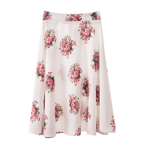 Haute Yuanu Style Impression Respirant Taille Impression t 1 Confortable Numrique Casual Femme Mode Jupe Plisse Midi Skirt 4w4qvrZ
