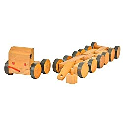 Brain Games Wooden 16 Wheeler Toy Truck
