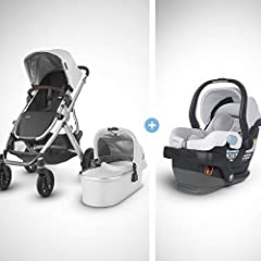 The VISTA stroller is the perfect solution for growing families. The versatile design allows for multiple configurations to transport up to 3 children- all while strolling like a single. The included Bassinet is a perfect lay flat solution fr...
