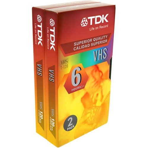 TDK 2-Pack VHS Tapes (ST120XPS2) by TDK