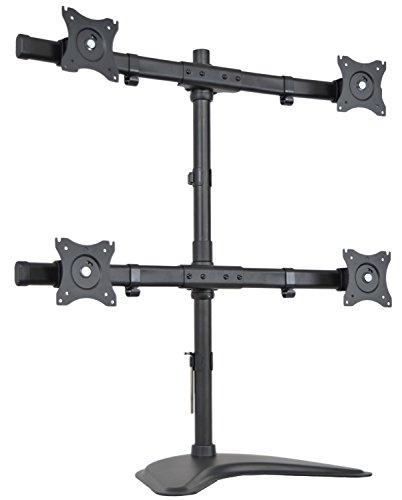 VIVO Quad Monitor Heavy Duty Stand Free Standing Desk Mount