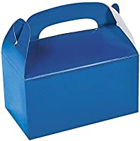 Fun Express Blue Treat Boxes - Party Supplies - Containers & Boxes - Paper Boxes - 12 Pieces