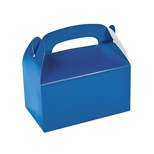 Fun Express Blue Party Favor Treat Boxes - 12 Pieces -