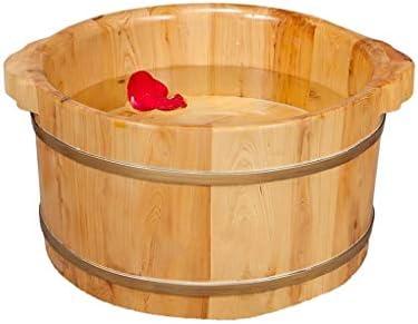 防水サウナバケツ,防漏 丈夫 使用簡単 サウナ 足浴桶 湯桶 手桶 木製 耐久性 滑らかい バスアクセサリー 湯桶 手桶