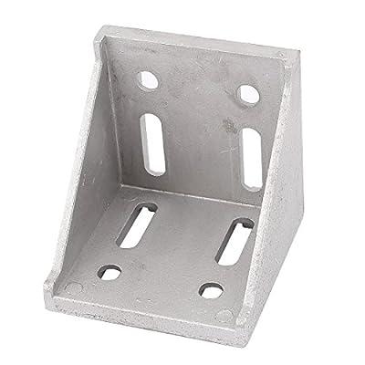 uxcell Aluminum Alloy 78x78x79mm Corner Brace Angle Bracket Support