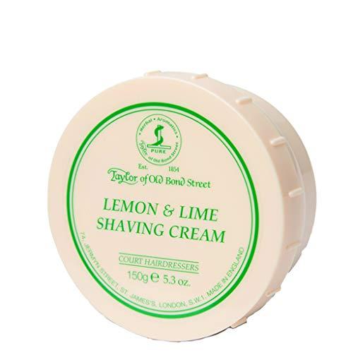 Soft Shaving Cream Limes - Taylor of Old Bond Street Lemon - Lime Shaving Cream Jar, 5.3-Ounce