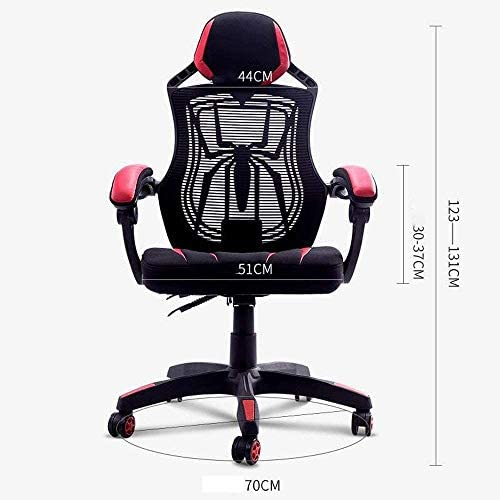 HDZWW Game Chair, Réglable Haut Fauteuil De Bureau, À La Maison Noir Rouge Spiderman Rafraîchissez Chaise De Bureau, Chaise De Bureau avec Spider Web