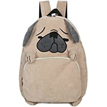 EBISSY Dog Shape Backpack [ Cute Troubled Face Pug ] Animal Daypack For Girls