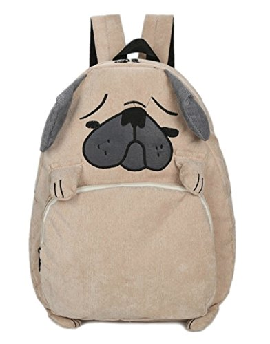 (EBISSY Dog Shape Backpack [ Cute Troubled Face Pug ] Animal Daypack For Girls)