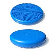 Inflatable Balance Vestibular Seating Standing Disk, Blue 14in. Activates Muscles