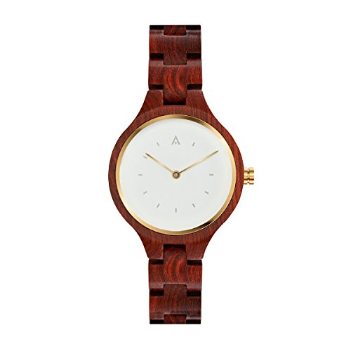 MAM Originals · Geese Red | Women's Watch | Minimalist Design | Watch Made from sustainably sourced Sandalwood | Superior Quality at an Affordable Price