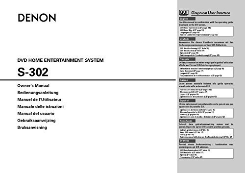 Denon S-302 Home Theater System Owners Instruction Manual Reprint [Plastic Comb] [Jan 01, 1900] (S302 Home Theater)
