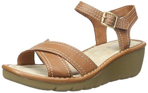 Skechers Dress Women's Cameo Faceted Leather Tan Sandal aPU8Zaqxw